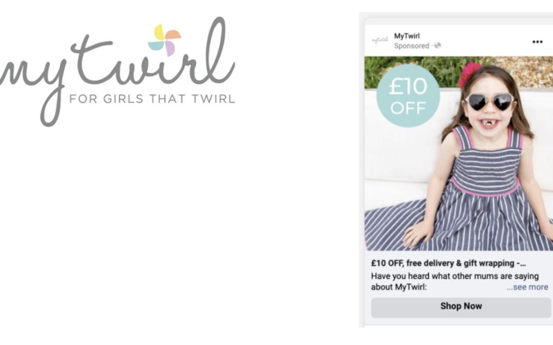My Twirl logo and example advert